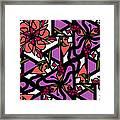 Digi-flora Framed Print