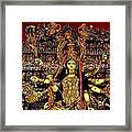 Durga Statue The Hindu Goddess #2 Framed Print by Amitava Ray