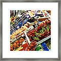 Farmers Market Florence Italy Framed Print
