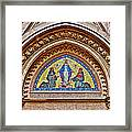 Fresco In Front Of Saint Anthony's Church In Istanbul-turkey  Framed Print