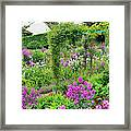 Garden Of Claude Monets House, Giverny Framed Print