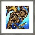 Gold Metal Dragon Framed Print