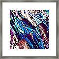 Hydroquinone Crystals In Polarized Light Framed Print