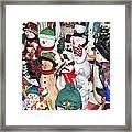I Heart Snow Framed Print