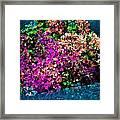 I Love Flowers Framed Print