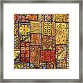 Indian Patchwork Carpet Framed Print