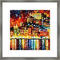 Inviting Harbor Framed Print