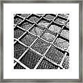 Iron Protection On Mesh Covered Well Inside Edinburgh Castle Framed Print