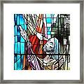 Jesus Healing The Blind Man Framed Print