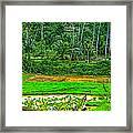 Jungle Homestead Framed Print