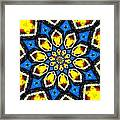 Kaleidoscope Of Primary Colors Framed Print