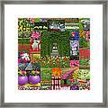 Keukenhof Gardens Collage Framed Print