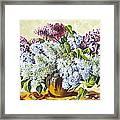 Lilac Flowers Framed Print