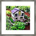 Little Garden Farmhouse Framed Print
