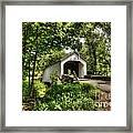 Loux Covered Bridge Framed Print