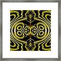 Mambo In Gold And Red Framed Print