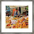 Man Peeling Squash In Antalya Street Market-turkey Framed Print