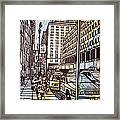 Manhattan On Map Framed Print