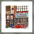 Mcleans Irish Pub Montreal Framed Print