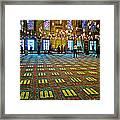 Men Inside The Blue Mosque In Istanbul-turkey Framed Print
