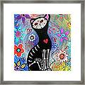 Meow II Day Of The Dead Framed Print