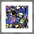 Meteorite Nwa 6435, Light Micrograph Framed Print