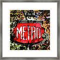 Metro Sign, Paris, France Framed Print