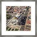 Mexico City Aerial View Framed Print