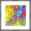 Modern Abstract Painting Original Canvas Art Atoms By Zee Clark Framed Print