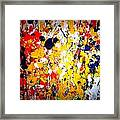 Modern Abstract Painting Original Canvas Art Wild By Zee Clark Framed Print