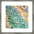 Mosaic Texture  Framed Print by Niphon Chanthana