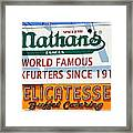 Nathan's Sign Framed Print