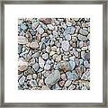 Natural Rock Pebble Backgorund Framed Print