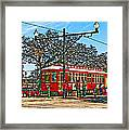 New Orleans Streetcar Painted Framed Print