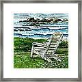 Ocean Chair Framed Print