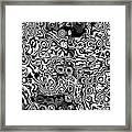 Organic Optical Illusion 7 Framed Print by The Art of Marsha Charlebois