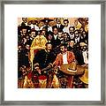 Pancho Villa In Presidential Chair And Emiliano Zapata Palacio Nacional Mexico City December 6 1914 Framed Print