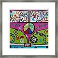 Peace Love Dub Framed Print