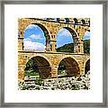 Pont Du Gard In Southern France Framed Print