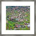 Residents Moved From Homes In Cliffs To Homes Below In 1951 In Cappadocia-turkey Framed Print