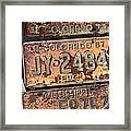 Rusted Plates Framed Print