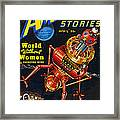 Science Fiction Cover 1939 Framed Print