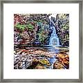 Scotish Waterfall Hdr Framed Print
