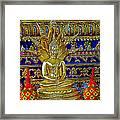 Sitting Buddha In Wat Po In Bangkok-thailand Framed Print