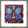 Skellyfly Day Of The Dead Framed Print