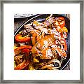 Steak Fajitas Framed Print