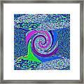Stool Pie Chart Twirl Tornado Colorful Blue Sparkle Artistic Digital Navinjoshi Artist Created Image Framed Print