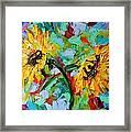 Sunflower Joy Framed Print