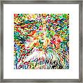 Tagore - Watercolor Portrait Framed Print