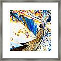Tartaric Acid Crystals In Polarized Light Framed Print